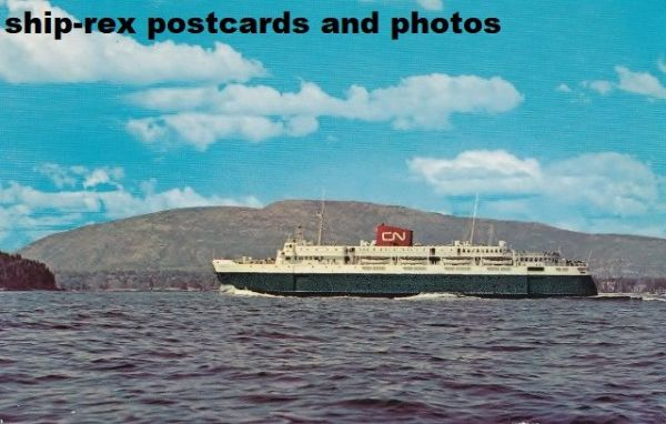 BLUENOSE (1956b, Canadian National) postcard (e)